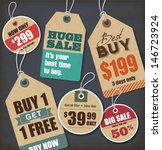 sale tags collection | Shutterstock .eps vector #146723924