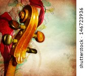 Vintage Music Background With...