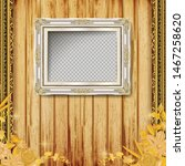 beautiful golden frame placed... | Shutterstock .eps vector #1467258620