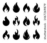 fire flames  set vector icons | Shutterstock .eps vector #1467269879