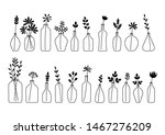 set of leaves  flowers and... | Shutterstock .eps vector #1467276209
