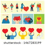 share your love. people with... | Shutterstock .eps vector #1467283199