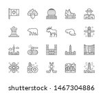 set of canadian culture line... | Shutterstock .eps vector #1467304886