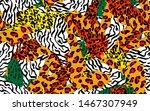 animal skin print leopard ... | Shutterstock .eps vector #1467307949