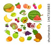 fresh fruits icons set.... | Shutterstock . vector #1467310883