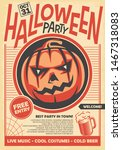 halloween party poster and... | Shutterstock .eps vector #1467318083