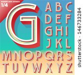 vector retro alphabet for... | Shutterstock .eps vector #146733284