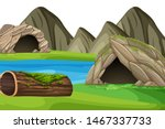 Scenery Background Of Cave By...