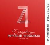 17 august. indonesia happy... | Shutterstock .eps vector #1467341783