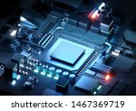 a silicon cpu and... | Shutterstock . vector #1467369719