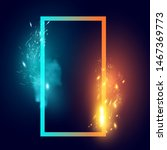 fire and ice sparks and smoke... | Shutterstock .eps vector #1467369773