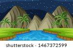 landscape background design of... | Shutterstock .eps vector #1467372599