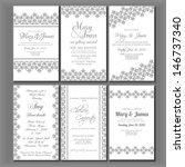 wedding invitation card | Shutterstock .eps vector #146737340