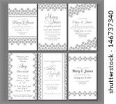 wedding invitation card | Shutterstock .eps vector #146737340