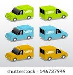 colored vans  cartoon 3d...   Shutterstock .eps vector #146737949