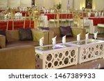 decorated wedding banquet hall... | Shutterstock . vector #1467389933