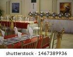 decorated wedding banquet hall... | Shutterstock . vector #1467389936