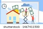 mortgage vector illustration.... | Shutterstock .eps vector #1467411500