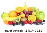 fresh fruits and berries... | Shutterstock . vector #146743118