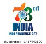 73rd india independence day ... | Shutterstock .eps vector #1467443900