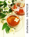 cup of tea with jasmine  on... | Shutterstock . vector #146745218