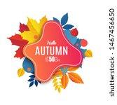 fall sale banner design. autumn ... | Shutterstock .eps vector #1467456650