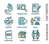 hiring process icon set w... | Shutterstock .eps vector #1467460550