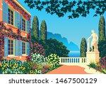 flower garden near a country... | Shutterstock .eps vector #1467500129