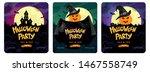 halloween party  set of three... | Shutterstock .eps vector #1467558749