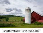 Old White Silo In The Hudson...