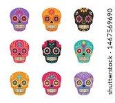 dia de los muertos. vector... | Shutterstock .eps vector #1467569690