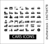 cars icons  signs set  vector