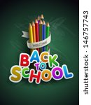 welcome back to school. vector... | Shutterstock .eps vector #146757743