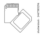 memory card icon. outline...