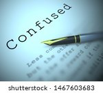 confused definition concept... | Shutterstock . vector #1467603683