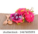 fresh dragon fruit  sweet and... | Shutterstock . vector #1467605093