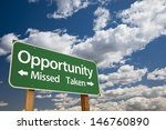 opportunity missed and taken... | Shutterstock . vector #146760890