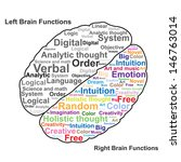 left and right brain function... | Shutterstock .eps vector #146763014