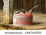 Red Vintage Classic Gas Can On...