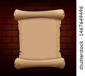 old vintage paper ribbon scroll ...   Shutterstock .eps vector #1467649496