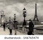 alexander iii,ancient,architecture,atmosphere,autumn,bridge,city,cloud,color,dark,drawing,dusk,eiffel,eiffel tower,europe