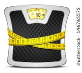 measuring tape wrapped around... | Shutterstock .eps vector #146765573