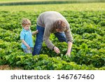 young man and his son on... | Shutterstock . vector #146767460