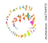 multi colored birds. abstract... | Shutterstock .eps vector #1467709973