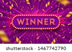 neon light winner retro... | Shutterstock .eps vector #1467742790