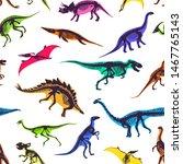 Set Of Silhouettes  Dino...