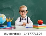 funny happy child   schoolboy ... | Shutterstock . vector #1467771809