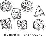 Vector Isolated Doodle Dices ...