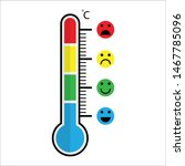 cute cartoon thermometer with... | Shutterstock .eps vector #1467785096
