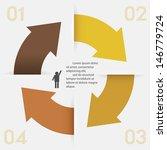 design clean number banners... | Shutterstock .eps vector #146779724